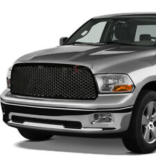 FOR 09-12 DODGE RAM 1500 DS BLACK FRONT BUMPER HOOD DIAMOND GRILLE COVER GUARD