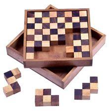 Pentomino Schachpuzzle Holzpuzzle Denkspiel Knobelspiel Geduldspiel m. Varianten