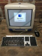 "Vintage Apple iMac Blue M5521 15"" Home Computer OS 9 Power PC G3 128mb ROM 5.5.1"