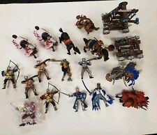 Schleich & Papo Medieval Knights & Horses Lot of Figures, Battering Ram Catapult