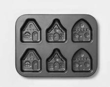 Threshold Cakelet Pan 6 Capacity Mini House Shape Cake Baking Pan NWT