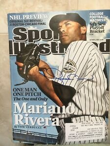 MARIANO RIVERA SIGNED AUTOGRAPH SPORTS ILLUSTRATED NEW YORK YANKEES HALL OF FAME