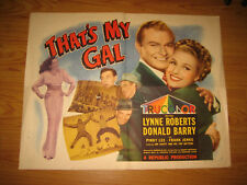 That's My Gal Original 1/2sh Movie Poster