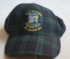 Old Course St Andrews Cap Hat Adjustable Green Blue Plaid NWT
