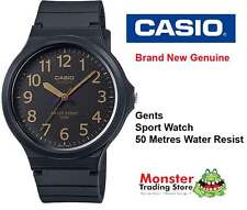 CASIO WATCH SPORTS WATER RESISTANT MW-240-1B2V 12 MONTH WARRANTY