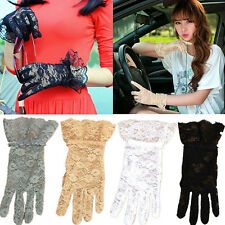 New Women Bridal Evening Wedding Party Prom Driving Costume Lace Mittens Gloves