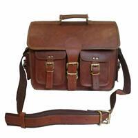 Vintage Leather Men Handmade Carry Satchel Laptop Shoulder Satchel Messenger Bag