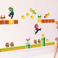 55'' Super Mario Bros Removable Wall Sticker Boy Room Decals Kids Nursery Decor