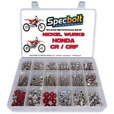 Honda CRF Nickel Wurks Bolt Kit CRF150R CRF250R CRF450R exceeds titaniums bling