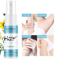 Powerful Permanent Hair Removal Spray Stop Hair Growth Inhibitor Remover 20ml