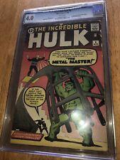 Hulk 6 Cgc 4.0 WHITE PAGES First Teen Brigade N Metal Master