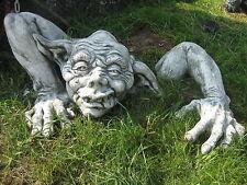 Steinfigur massiv 95 cm groß 65 kg Herr der Trolle Gargoyle Gnom Wichtel Troll