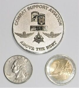 Challenge Coin - US Army - Airborne - Combat Support Aviation - Serial #113 - Dr