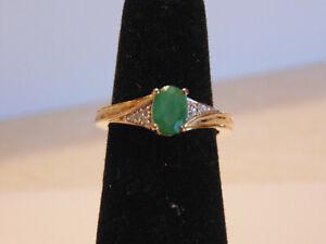 ESTATE  Natural Genuine Emerald Ring sz 6.           11erg