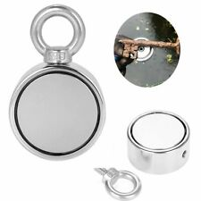 Double Sided 500LB Fishing Magnet Kit Strong Neodymium Pull Force Treasure Hunt