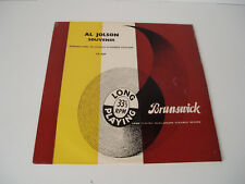 "10"" LP record. AL JOLSON SOUVENIR. 1950."