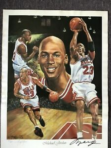 Michael Jordan autographed  Chicago Bulls 18 x 24 lithograph