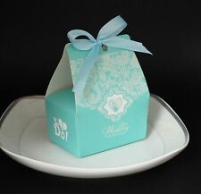 WEDDING PARTY FAVOUR BOXES, CAKE BOXES TIFFANY COLOUR