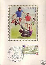 2209+ FDC CARTE 1er JOUR  SOIE COUPE MONDE  FOOT-BALL