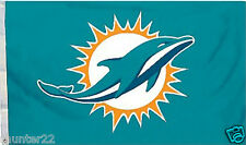 Miami Dolphins Huge 3'x5' NFL Licensed All Pro NFL Flag / Banner - Free Shipping