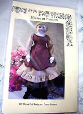 "18"" China Doll PATTERN for Dress and Body"