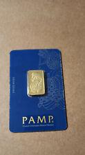 pamp 10 gram veriscan gold bar .9999