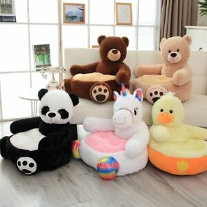 Kids Chair Throne Toy Girl Boy Children Seat Soft Puff Sofa Seat Cover Gift