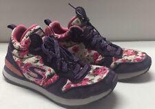 Sketchers Pink & Purple PRPK Hollywood Rose Memory Foam Tennis Shoes Girl's 3