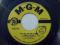Tommy Edwards It's All In The Game / Please Love Me Forever 45 1958 Vinyl Record