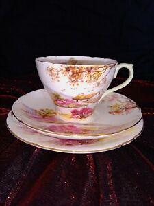Shelley Old Ireland Tea Cup Trio #13657
