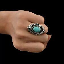 Boho Chunk Ring Tibet style with turquoise