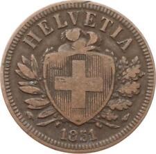Schweiz, 2 Rappen 1851 A