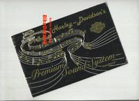 Harley FL GLIDE Premium Sound System Hand-Book (1988) Genuine Factory Issue CF79