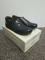 Spring Step-L'Artiste Uno Black Leather Comfort Slip On Casual Shoes Sz US 9