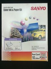 Sanyo 100 Sheets Paper & Cartridge Pack DVP-IPK100 For DVP-P1EX Printer New