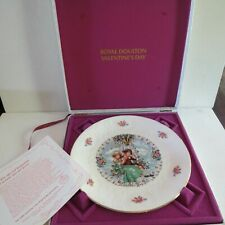 Vtg Mcm Royal Doulton Valentines Day Collectors Plate~Bone China~Original Box