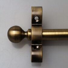 ANTIQUE BRASS 1/2 INCH STAIR CARPET ROD BALL FINIAL (R07B)