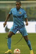 "Firmato a mano JUAN JESUS INTER MILAN 12"" x 8"" foto Brasile Italia COA"