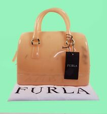 FURLA Mini Candy Acacia (Orange) Rubber Satchel Handbag Msrp $198 *Comes w/ Tag