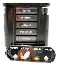 Pillendose 7 Tage Pillenbox Pillenturm Tablettenbox Medikamentenbox schwarz