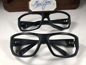 Two Maui Jim Wassup MJ 123-02W Matte Black Sunglasses Frames As-Is Bent