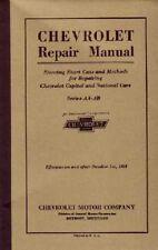 1927 1928 Chevrolet Car Truck Shop Service Repair Manual Engine Drivetrain Book