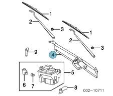 NEW FORD OEM Wiper-Front Transmission- W/Shield Wiper Link Assy 8L1Z17508A WM724