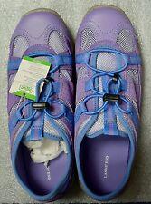 New Lands' End Kids Girls Trekker Shoes Color: Purple Size: 4 FREE S/H
