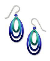 Adajio Jewelry 3 Part Open Stack OVAL EARRINGS STERLING Silver Dangle + Gift Box