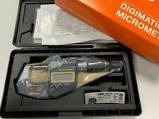 """Mitutoyo 293-185-30 Digital Micrometer IP65 Quantumike 0-25mm 0-1"""" Brand New"""