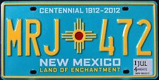 "NEW MEXICO "" CENTENNIAL "" 100 YEARS ENCHANTMENT "" 2014 NM Graphic License Plate"