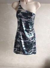 Women's Balmain one shoulder military sequin dress size 38
