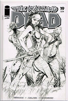 THE WALKING DEAD #19 J. SCOTT CAMPBELL B&W VARIANT 15 YEAR ANNIVERSARY EDITION