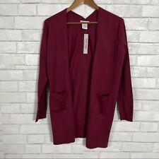 Womens Sweet Romeo Bordeaux Red Longline Cardigan Housecoat Chic Duster Sweater